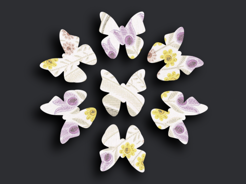 Schmetterlingsschwarm L-03