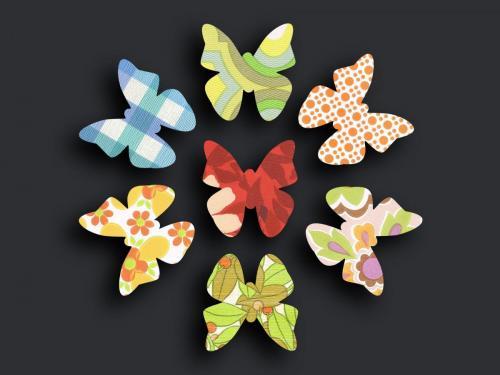 Schmetterlingsschwarm bunt
