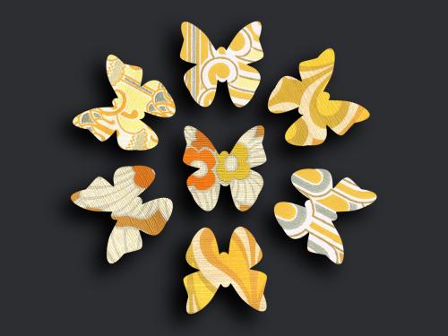 Schmetterlingsschwarm orange