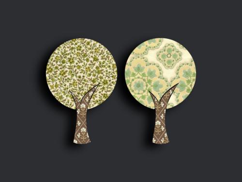 Tapetenbäume klein 4